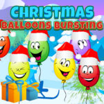 Christmas Balloons Bursting